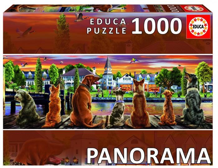 Пазлы Educa Пазл панорама Собаки на набережной (1000 деталей) educa пазл деревня в цвету карла жерар educa 1000 деталей