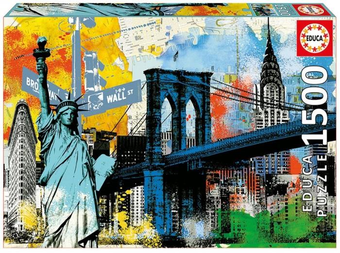 Пазлы Educa Пазл Символы Нью-Йорка (1500 деталей) educa пазл 1500 деталей санкт петербург