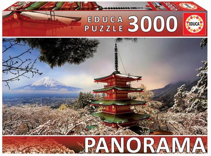 цена на Пазлы Educa Пазл панорама Гора Фудзи и пагода Чурейто (3000 деталей)