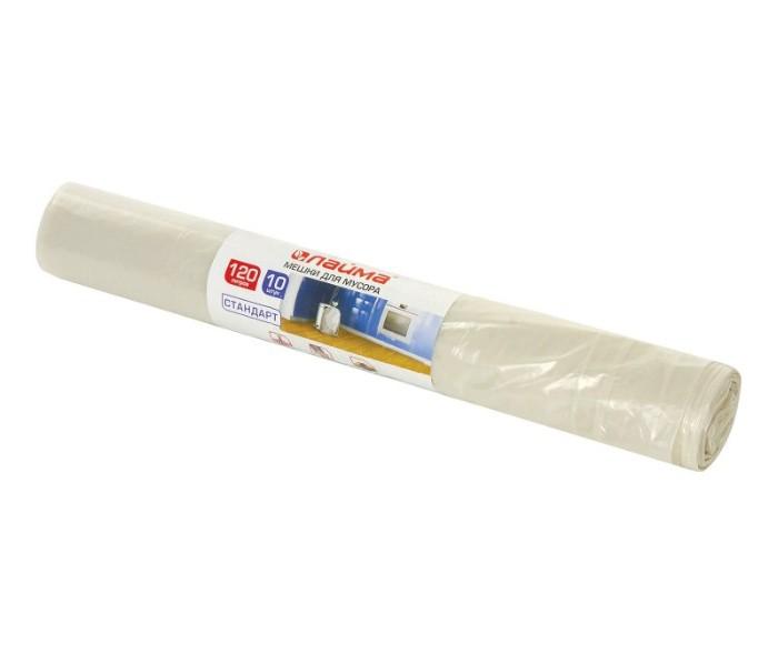 Хозяйственные товары Лайма Мешки для мусора прозрачные 120 л 10 шт. мешки для мусора концепция быта 120 л 10 шт