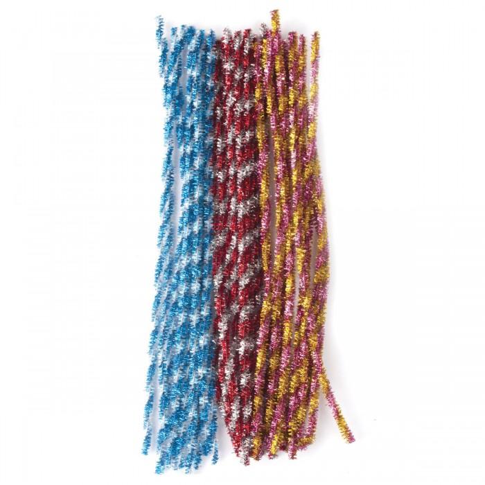 Наборы для творчества Остров Сокровищ Проволока синельная Блестящая 6 цветов 30 шт.
