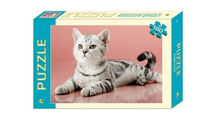 Пазлы Рыжий кот Пазлы Серый котёнок (160 элементов) цена 2017