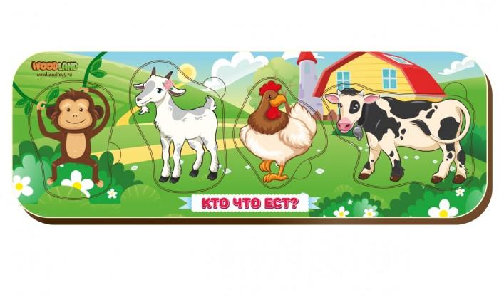 Фото - Деревянные игрушки Woodland Рамка-вкладыш Кто что ест? рамка вкладыш woodland где кто