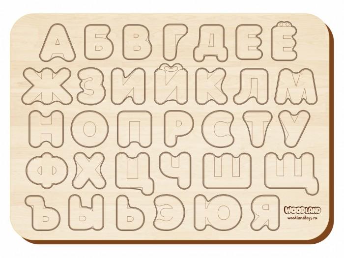 Фото - Деревянные игрушки Woodland Рамка-вкладыш Изучаем буквы и алфавит рамка вкладыш woodland где кто