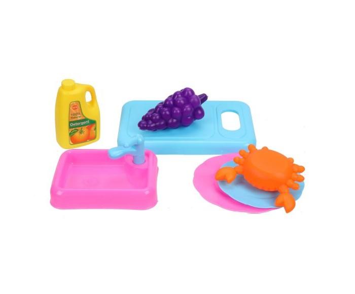 Ролевые игры Наша Игрушка Набор посуды с продуктами (7 предметов) набор посуды gipfel antea 7 предметов