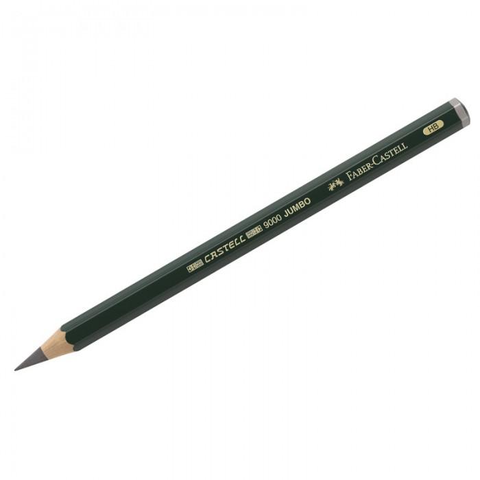 Фото - Карандаши, восковые мелки, пастель Faber-Castell Карандаш ч/г HB утолщенный 9000 Jumbo карандаш чернографитный castell 9000 jumbo 8в