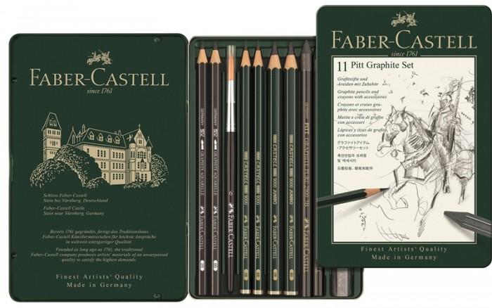Карандаши, восковые мелки, пастель Faber-Castell Набор карандашей ч/г Pitt Graphite (11 предметов) недорого