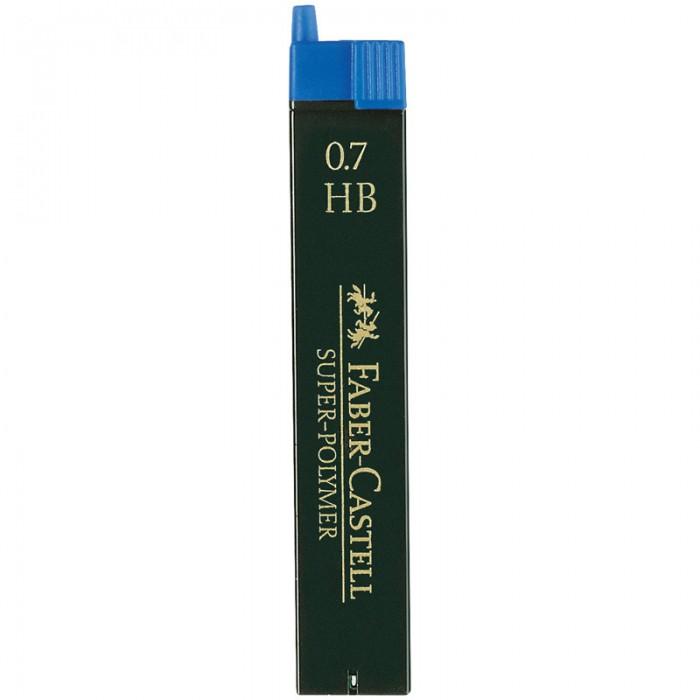 Карандаши, восковые мелки, пастель Faber-Castell Грифели для механических карандашей Super-Polymer 0,7 мм HB 12шт. cross грифели для механических кассетных карандашей 0 5 мм 12 шт 1 ластик в кассете