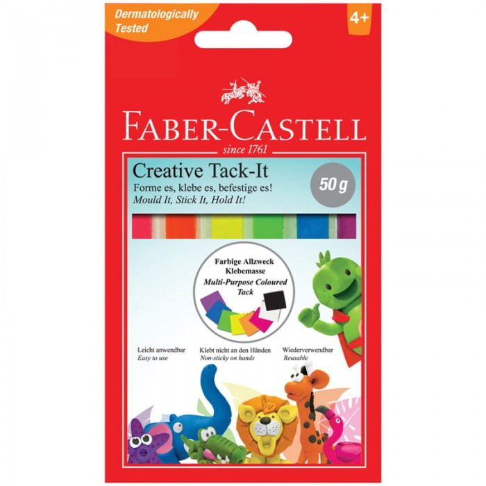 Faber-Castell Масса для приклеивания Tack-It Creative цветная 50 г