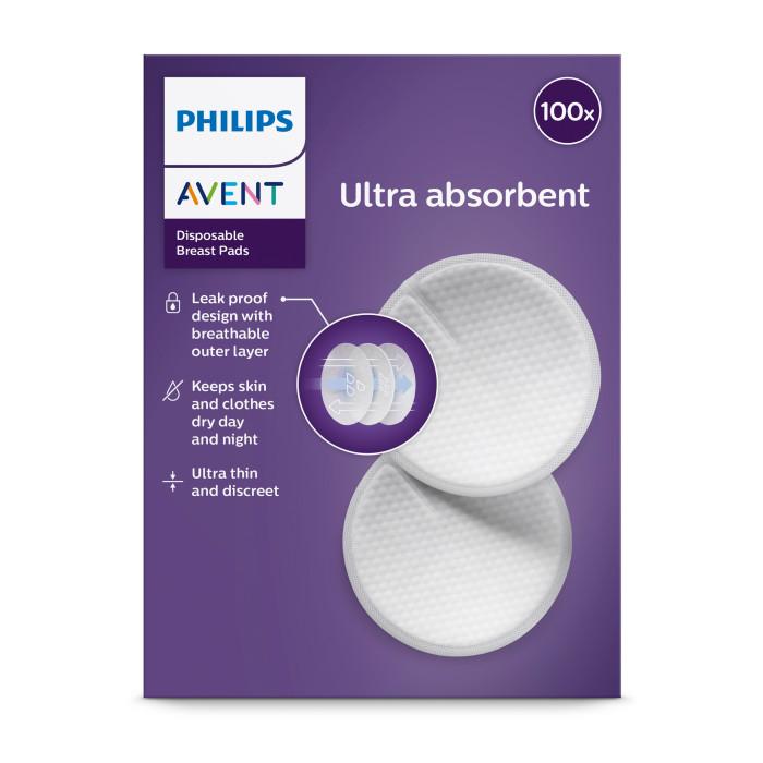 Philips Avent Одноразовые вкладыши для бюстгальтера Philips Avent, 100 шт. SCF254/13