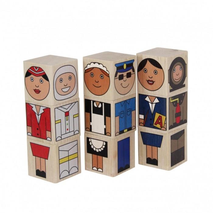 Фото - Деревянные игрушки Краснокамская игрушка Кубики Профессии книжки игрушки мозаика kids кем я хочу стать необычные профессии