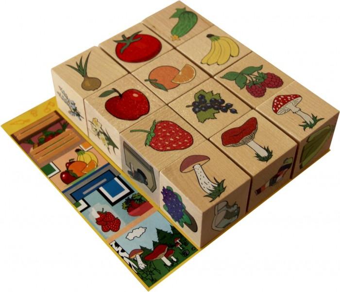 Деревянная игрушка Краснокамская игрушка Кубики Окружающий мир