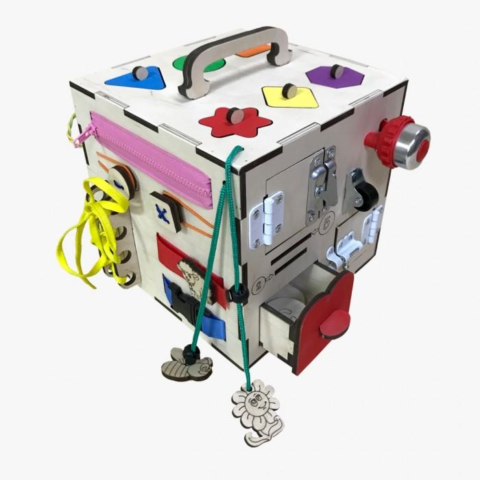 Деревянные игрушки Бизикуб Геометрические фигуры с розеткой деревянные игрушки бизикуб алфавит русский с цифрами и знаками