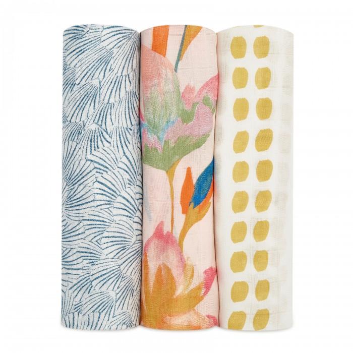 Купить Пеленки, Пеленка Aden&Anais из бамбука Marine gardens 120х120 см 3 шт.