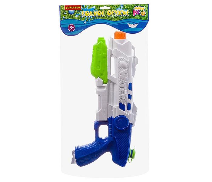 Водные пистолеты и бластеры Bondibon Водный пистолет с помпой Наше Лето ВВ2851