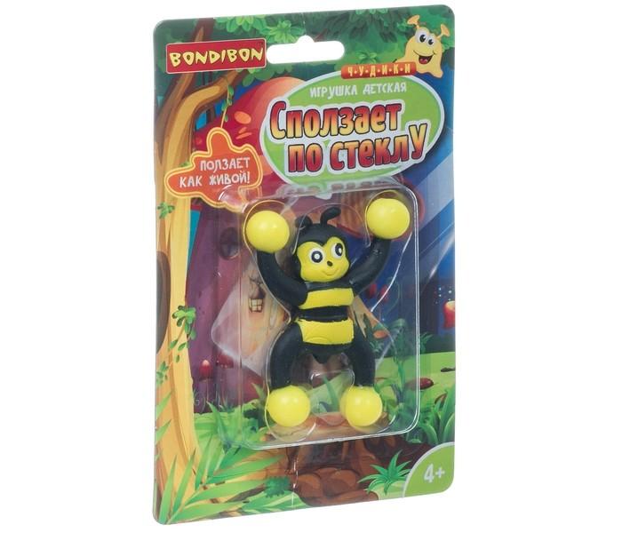 Развивающие игрушки Bondibon Чудики Сползает по стеклу Пчела воздушный змей мини bondibon чудики полёт пчела вв2494