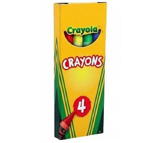Карандаши, восковые мелки, пастель Crayola Восковые мелки цветные 4 шт. play doh мелки восковые пальчиковые 4 шт