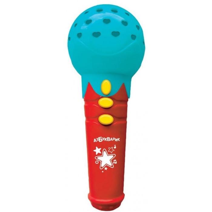 Музыкальные инструменты Азбукварик Микрофон Веселые песенки с огоньками азбукварик игрушка азбукварик зверята с огоньками зайка