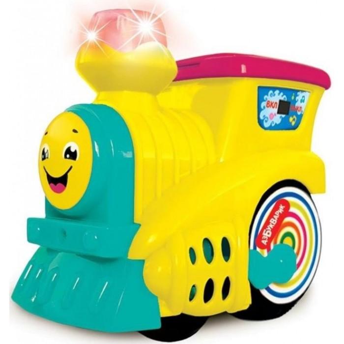 Электронные игрушки Азбукварик Музыкальный паровозик 2590С азбукварик руль музыкальный азбукварик я водитель желтый