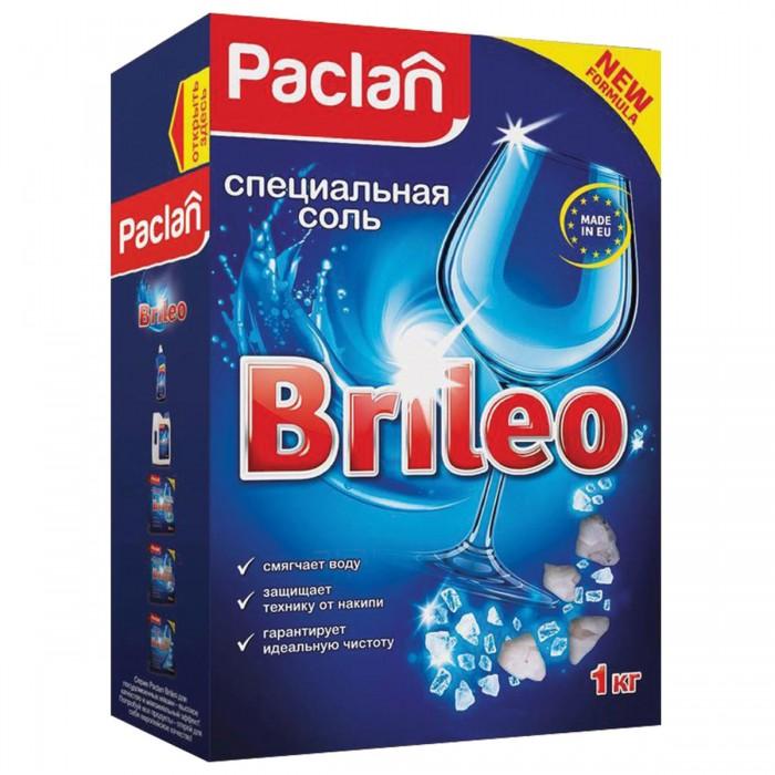 Бытовая химия Paclan Соль от накипи в посудомоечных машинах Brileo 1 кг ludwik соль для посудомоечных машин 1 5 кг
