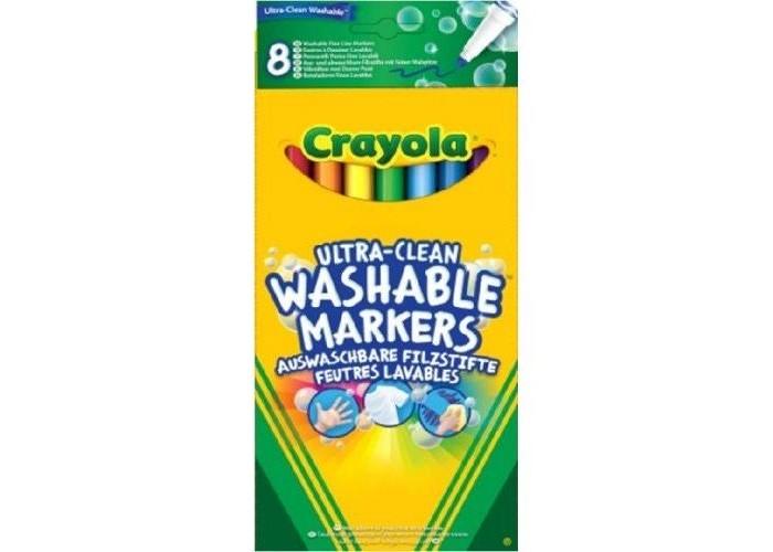 Фломастеры Crayola тонкие смываемые Супер чисто 8 шт. фломастеры crayola для рисования по стеклу 8 шт