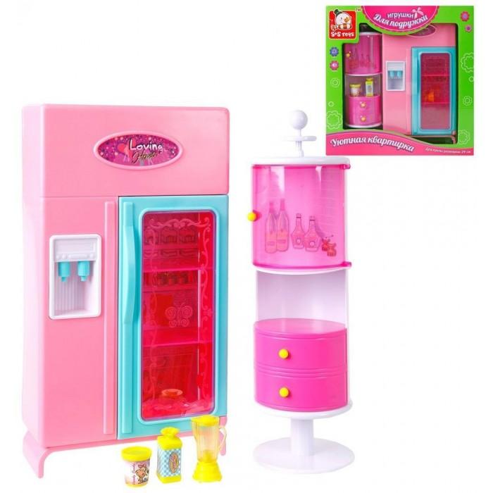 Кукольные домики и мебель Наша Игрушка Уютная квартирка Набор мебели для кухни