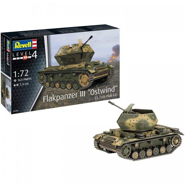 Купить Сборные модели, Revell Сборная модель САУ Flakpanzer III Ostwind 1:72