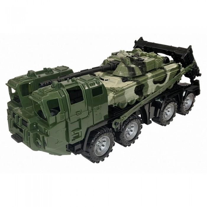Картинка для Машины Нордпласт Военный тягач Щит с танком камуфляж