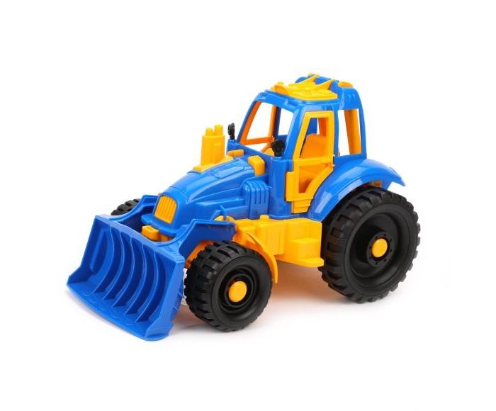 Машины Нордпласт Трактор с грейдером 398 трактор нордпласт богатырь с грейдером 68 см разноцветный 099
