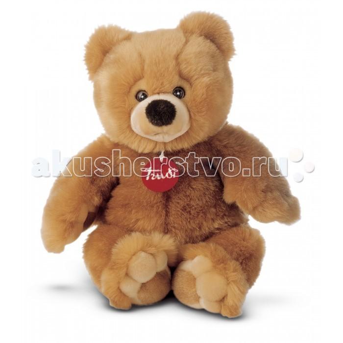 Мягкая игрушка Trudi Бежевый медвежонок Тео 39 смБежевый медвежонок Тео 39 смМягкая игрушка Trudi Бежевый медвежонок Тео 39 см. Вы только посмотрите в глаза этому славному бежевому медвежонку! Открытый, доверчивый взгляд, наполненный любовью и добротой способен покорить даже самое ледяное сердце! Вручите игрушку любимой девушке, и она точно примет ваше предложение о свидании.  Подарок придется по душе и ребенку, ведь с Тео так сладко спать в обнимку, а помимо прочего, можно взять его с собой на прогулку, ведь Тео не боится испачкаться, потому что его совершенно спокойно можно стирать — материал не потеряет своих лучших свойств.   Размер: 39 см<br>
