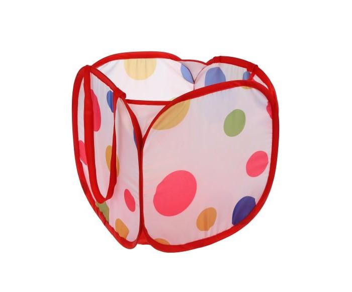 Наша Игрушка Корзина для игрушек  Цветной горошек 31х31х32 см