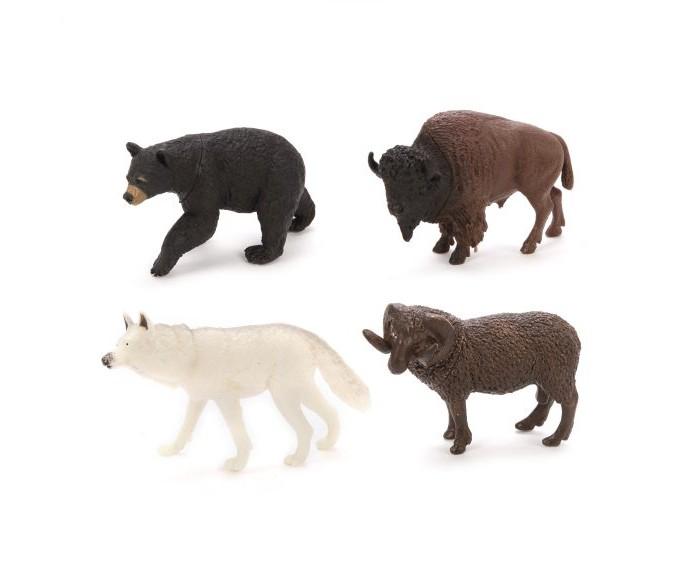 Фото - Игровые фигурки Наша Игрушка Набор фигурок Дикие животные 4 шт. наша игрушка набор фигурок наша игрушка домашние животные с аксессуарами