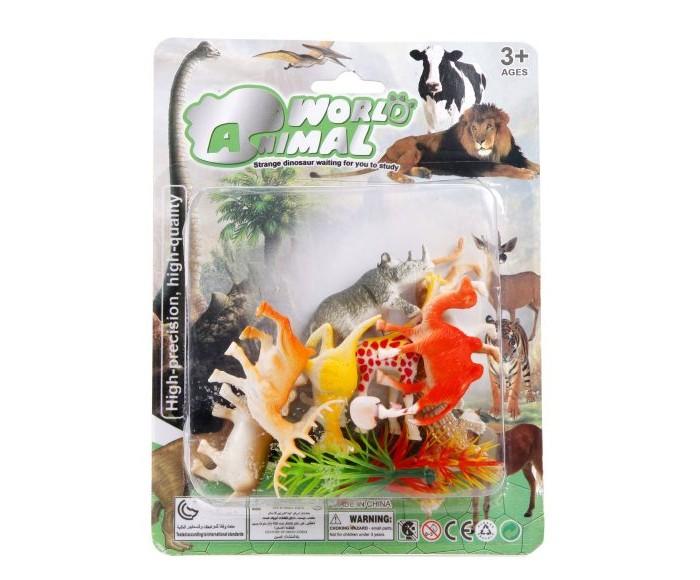 Фото - Игровые фигурки Наша Игрушка Набор фигурок диких животных с аксессуарами 8 шт. наша игрушка набор фигурок наша игрушка домашние животные с аксессуарами