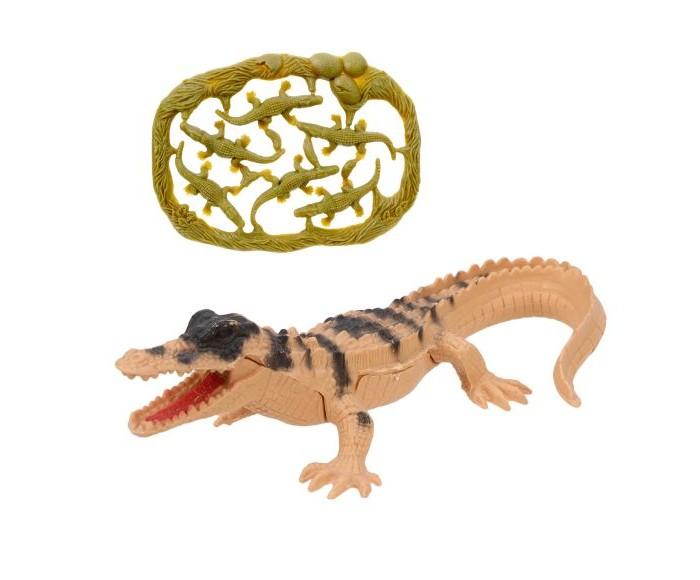 Фото - Игровые фигурки Наша Игрушка Набор фигурок Дикие животные крокодил с крокодильчиками наша игрушка набор фигурок наша игрушка домашние животные с аксессуарами