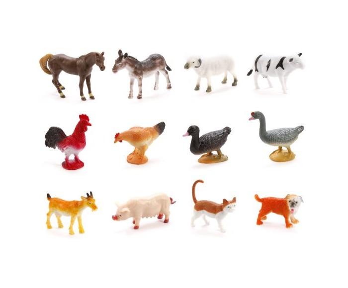 цена на Игровые фигурки Наша Игрушка Набор фигурок Домашние животные 12 шт.