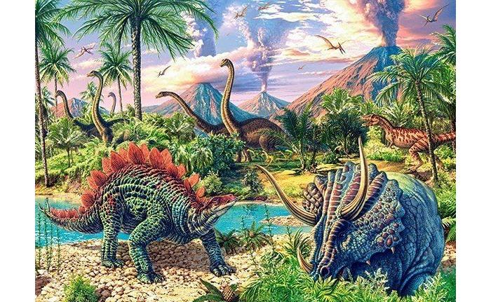 Пазлы Castorland Пазлы midi Динозавры (120 элементов) пазлы 120 midi мой друг зонтик