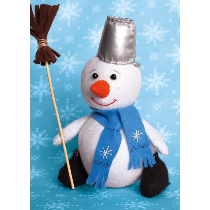 Картинка для Наборы для творчества Перловка Набор для создания игрушки Снеговик