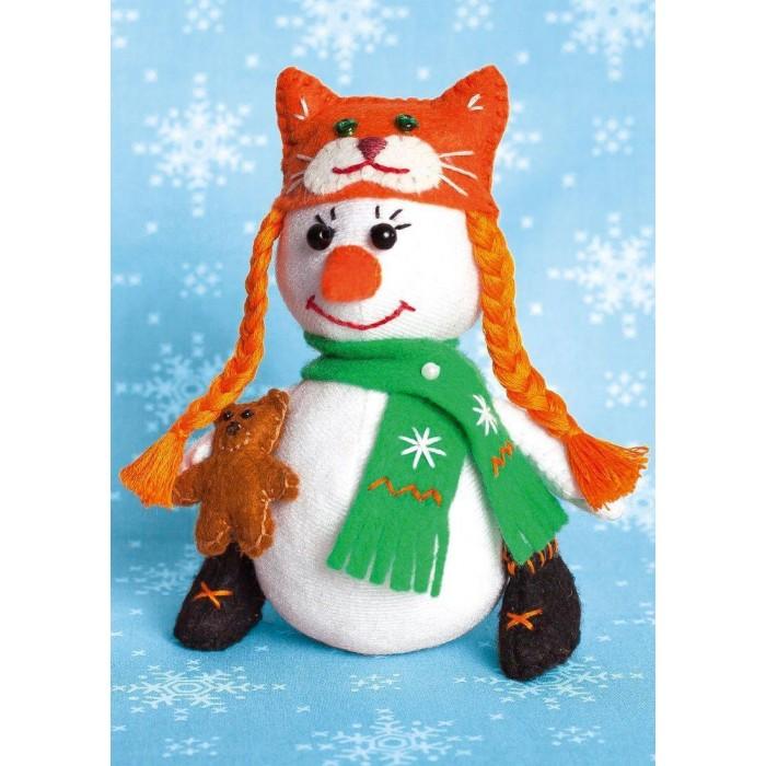 Картинка для Наборы для творчества Перловка Набор для создания игрушки Снеговичка