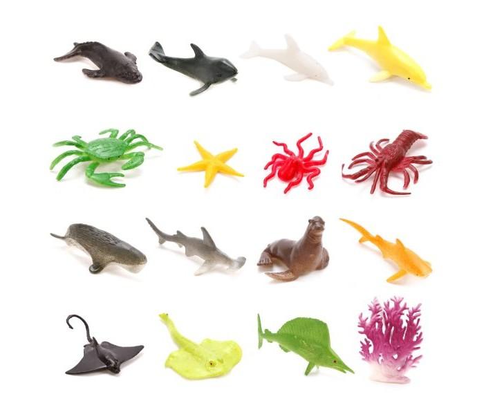 Фото - Игровые фигурки Наша Игрушка Набор фигурок Морские животные и аксессуары 18 шт. наша игрушка набор фигурок наша игрушка домашние животные с аксессуарами