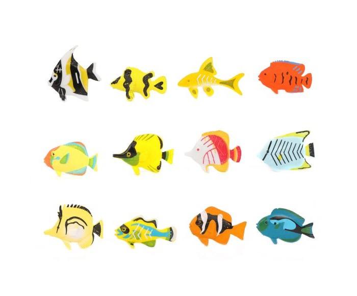 Фото - Игровые фигурки Наша Игрушка Набор фигурок Рыбки 12 шт. наша игрушка набор фигурок наша игрушка домашние животные с аксессуарами