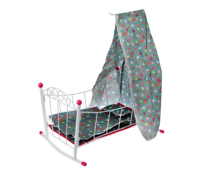 Картинка для Кроватки для кукол Наша Игрушка люлька с балдахином Салют