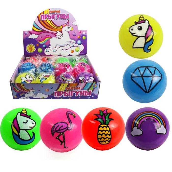 Мячики и прыгуны 1 Toy Мяч-прыгун со светом 5.5 см