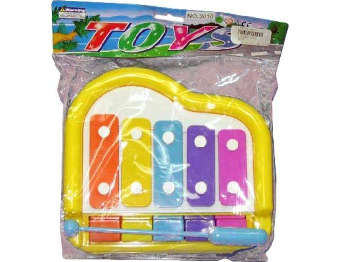 Музыкальные инструменты Наша Игрушка Ксилофон 5 тонов с клавишами игрушка