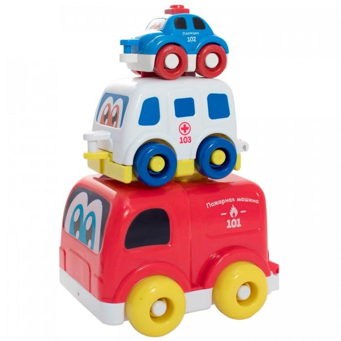 Развивающая игрушка Bebelino Музыкальная пирамидка Спасательные машинки