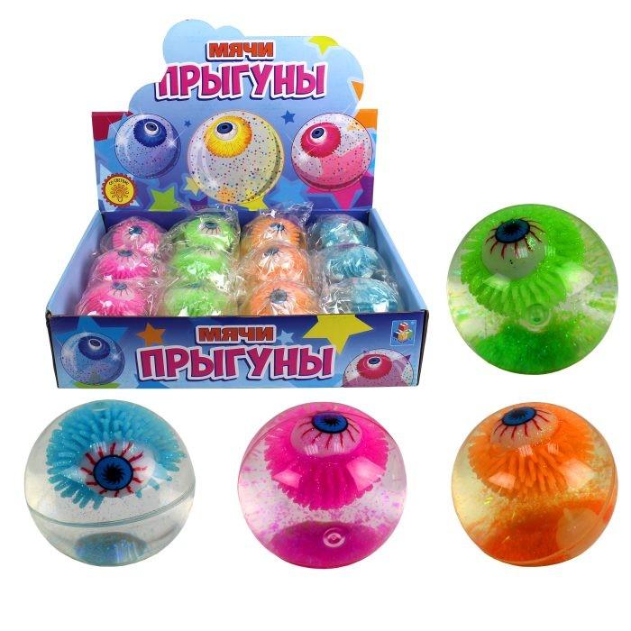 Мячики и прыгуны 1 Toy Мяч Прыгун 6.5 см мяч прыгун лошадка беж в чехле в пак в кор 15шт