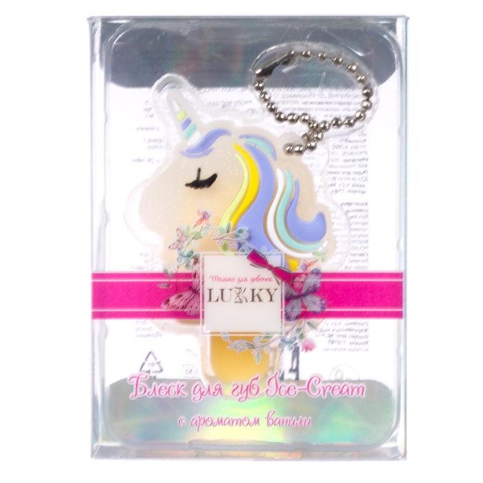 Детская косметика Lukky Бальзам для губ Ice-cream Unicorn с ароматом ванили 1.2 г недорого
