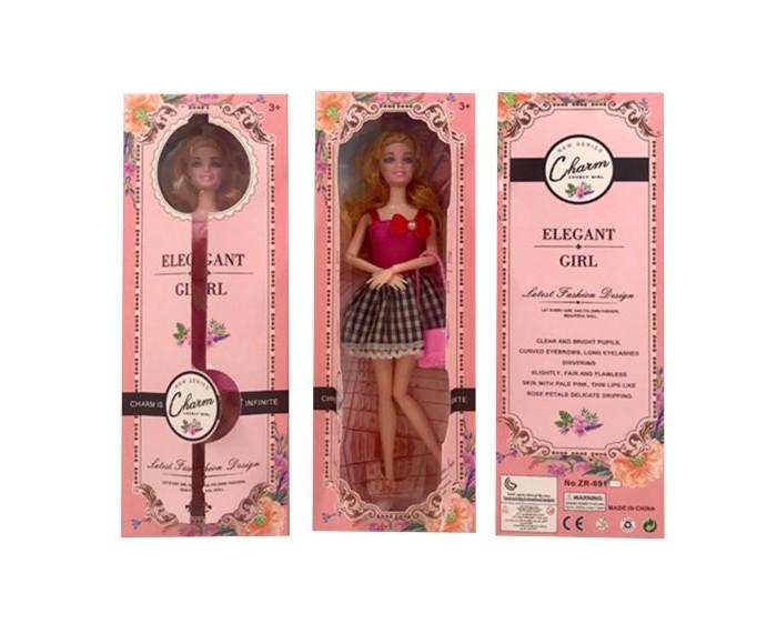 Куклы и одежда для кукол Наша Игрушка Кукла 29 см в красном платье куклы и одежда для кукол наша игрушка платье для куклы очарование 29 см