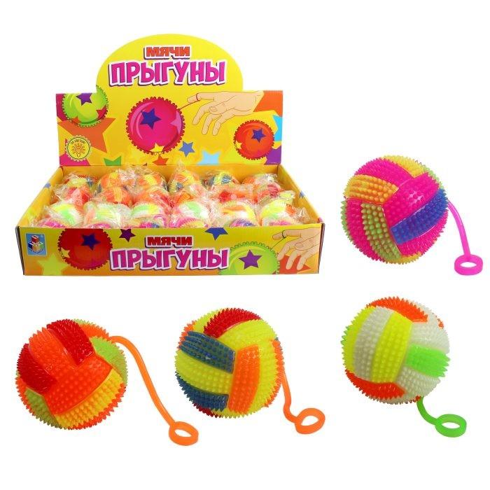 Мячики и прыгуны 1 Toy Мяч со светом Волейбол 6.5 см