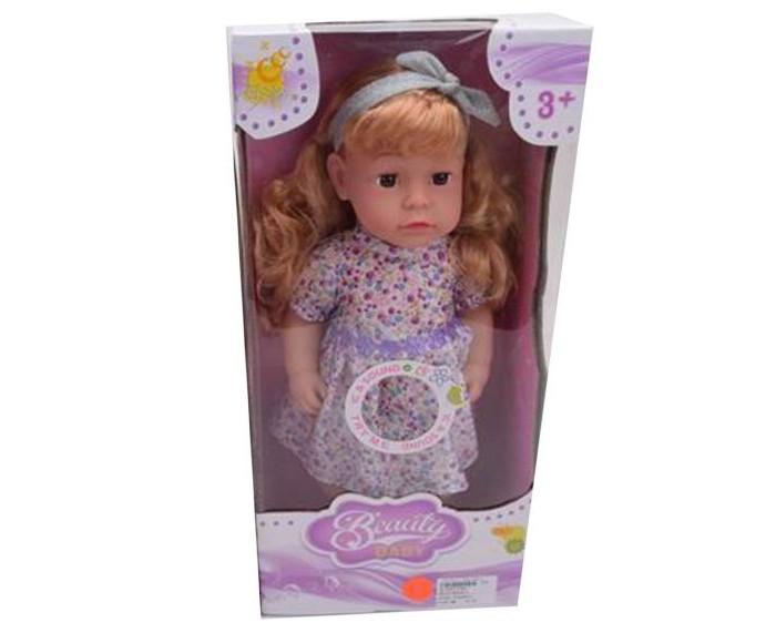 Купить Куклы и одежда для кукол, Наша Игрушка Кукла 45 см в сиреневом платьице