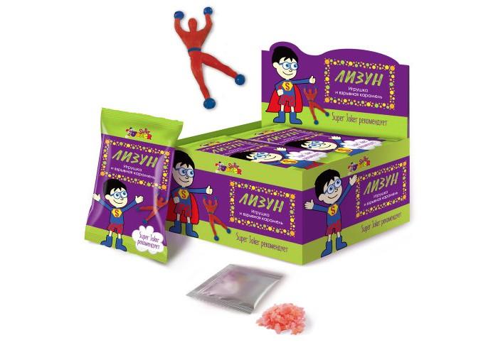 Игровые фигурки Конфитой Super Joker Лизун со взрывной карамелью